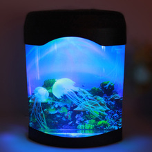 مصباح LED صناعي لحوض السمك ، ضوء مزاجي مثالي للسباحة أو كديكور للمكتب أو المنزل ، J99Store