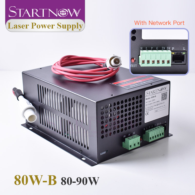 Startnow 80W-B CO2 90W Laser Power Supply 80W With Network Port High Voltage PUS MYJG 110V 220V Laser Engraving Cutting Machine