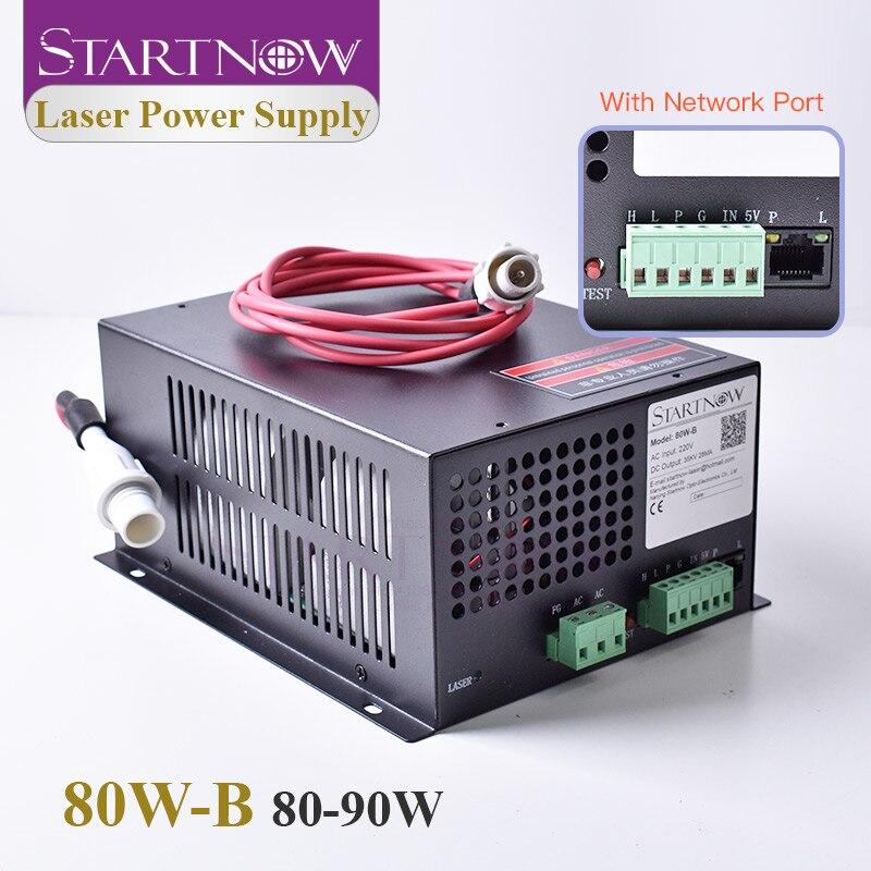 Startnow 80W-B CO2 90W Laser Power Supply 80W With Network Port High Voltage PUS MYJG 110V 220V Laser Engraving Cutting Machine