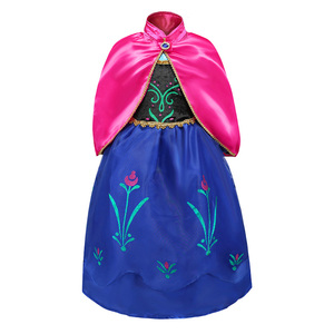 Image 5 - Snow Queen 2 NEW Elsa Anna Dress for Girls Elsa Halloween Fancy Clothes Children Party Cosplay Princess Costume Accessories Wig