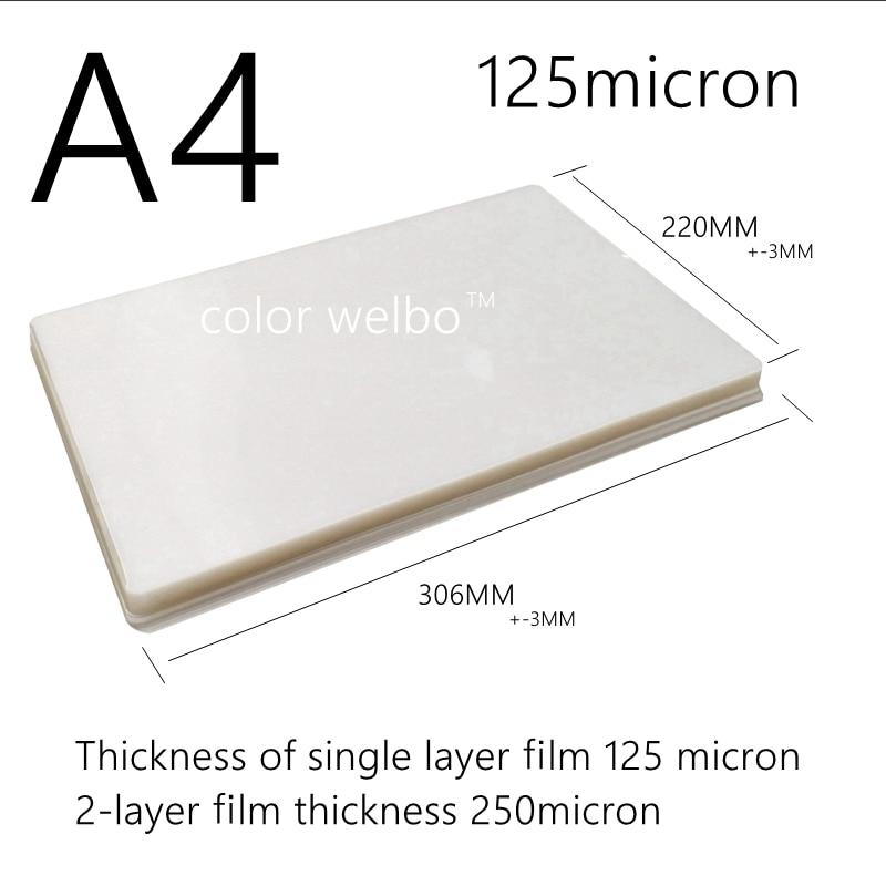 125micron 8.5X12.1 Inch PET PE PVC Hot Wind Laminator Machine A4+ SIZE PE Plastic Sealing Machine Laminating Film