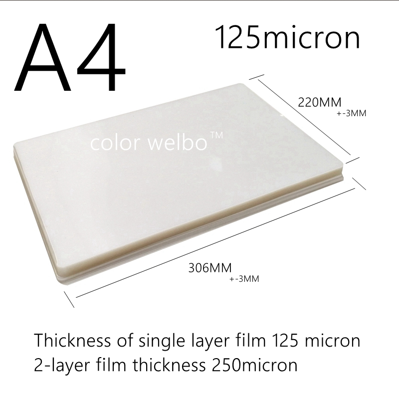 125micron 8.5X12.1 inch PET PE <font><b>PVC</b></font> Hot wind Laminator machine A4+ SIZE PE Plastic sealing machine laminating film image