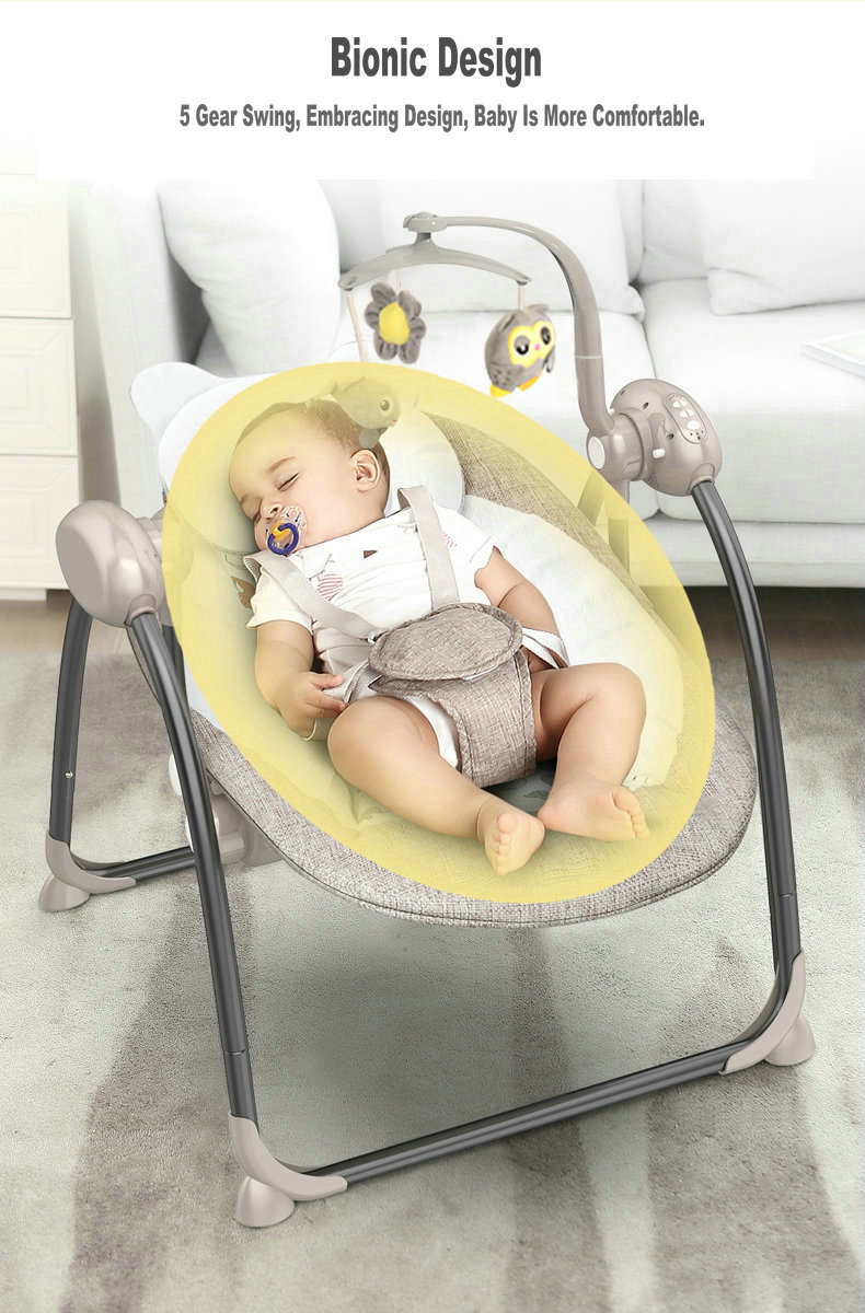 Hd1f6cc2bf3704e08b75c0e47909eb423e Baby Swing Multifunctional Baby Electric Baby Rocking Chair Electric Baby Cradle With Remote Control Cradle Rocking Chair