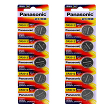 10pcs/lot Panasonic CR2012 3V Button Batteries DL2012 ECR2012 Cell Coin Lithium Battery CR 2012 for Watch Computer 100pcs 10cards ag0 lr63 379a sr521sw sr521 lr521 lr69 sr63 1 5v coin cell button batteries for watch computer clock