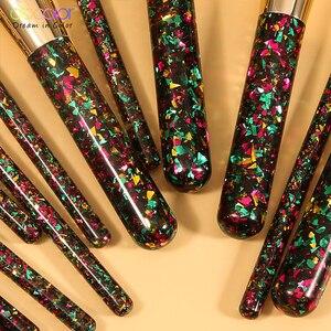 Image 4 - Docolor 14 sztuk boże narodzenie pędzle do makijażu profesjonalny Powder Foundation Eyeshadow zestaw pędzli do makijażu włosy syntetyczne narzędzie kosmetyczne