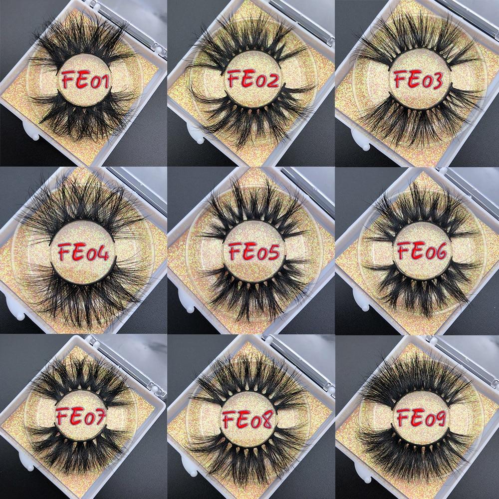 Luxury 25mm Siberian Mink Eyelash Strips With Custom Logo Wholesale Cruelty Free Mink Eyelash 3D Mink Lashes 25mm Mink Eyelashes