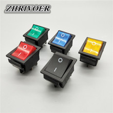 1/5Pcs KCD4 Rocker Switch ON-OFF 2 Position 4 Pins / 6 Pins  Electrical equipment With Light Power Switch 16A 250VAC/ 20A 125VAC kcd4 203 20a 250vac 30x22 waterproof rocker switch 6pin dpdt on off on 12v 220v red green led light rocker switch