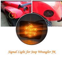 1 Pair 2PCS LED SMD Light Front Fender Flares Turn Signal Light For 2007 2017 Jeep Wrangler JK LED Side Marker Parking Lamp