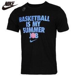 Originale NIKE COME LBJ M NK ASCIUTTO TEE T-Shirt Nera Logo Blu Manica Corta Camicette