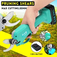 21V 30mm Wireless Electric Rechargeable Scissors Pruning Shears Tree Garden Tool branches Pruning Tools With 1/2 Li ion Battery