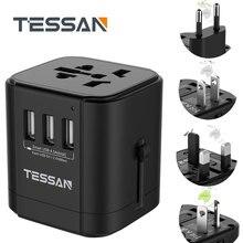 Tessan Universal Travel Power Adapter Internationalen Stecker Adapter Ladegerät mit 3 USB für UNS/EU/AU/UK/FR/Italien AC Outlet Stecker