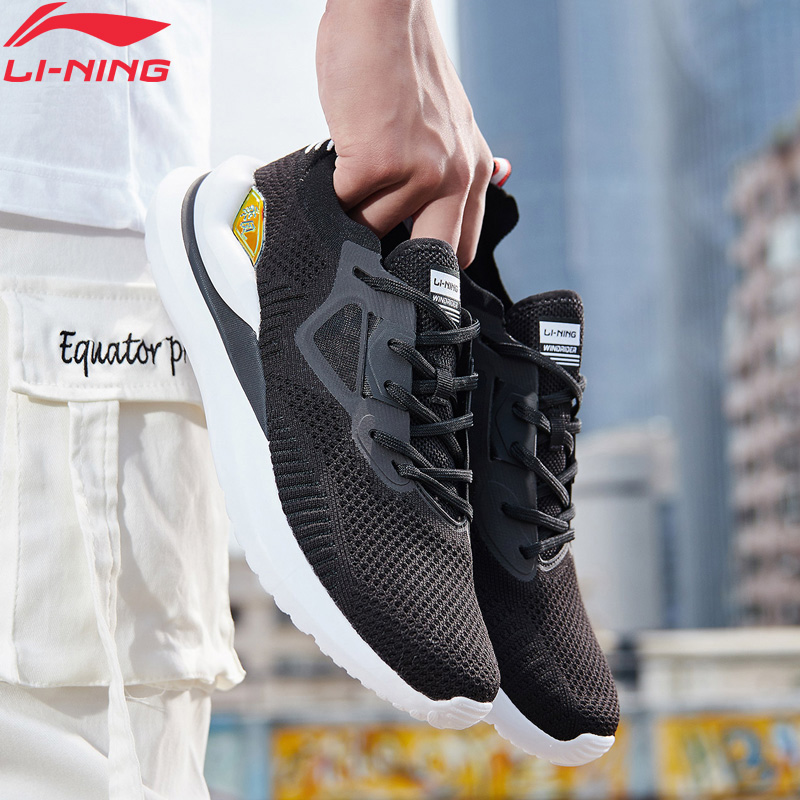 Li-Ning <font><b>Men</b></font> WINDRIDER Leisure Lifestyle <font><b>Shoe</b></font> Mono Yarn Breathable <font><b>LiNing</b></font> li ning Cloud Cushion Sport <font><b>Shoes</b></font> AGLP021 YXB290 image