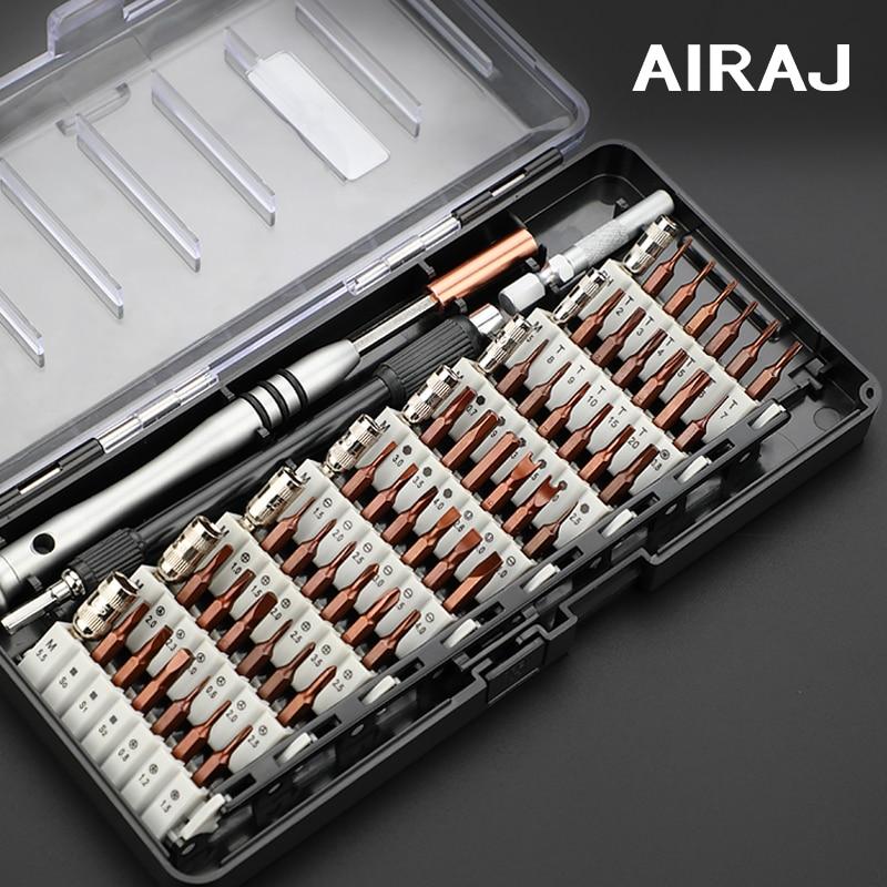 AIRAJ Screwdriver Set Precision Screwdriver Torque Multi-specification S2 Batch Of Laptop Manual Repair Tools With Storage Box