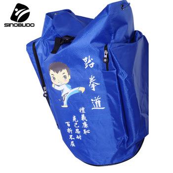 Taekwondo torba sportowa torba na siłownię plecaki sportowe Softback Kid torby sportowe dla dorosłych akcesoria sportowe torba Fitness torba podróżna tanie i dobre opinie SINOBUDO CN (pochodzenie) Biały pas Red Blue 55x35x35cm 0 7kg High capacity Taekwondo Sport Bag Waterproof Travel Bag Taekwondo Fitness Sport Bag