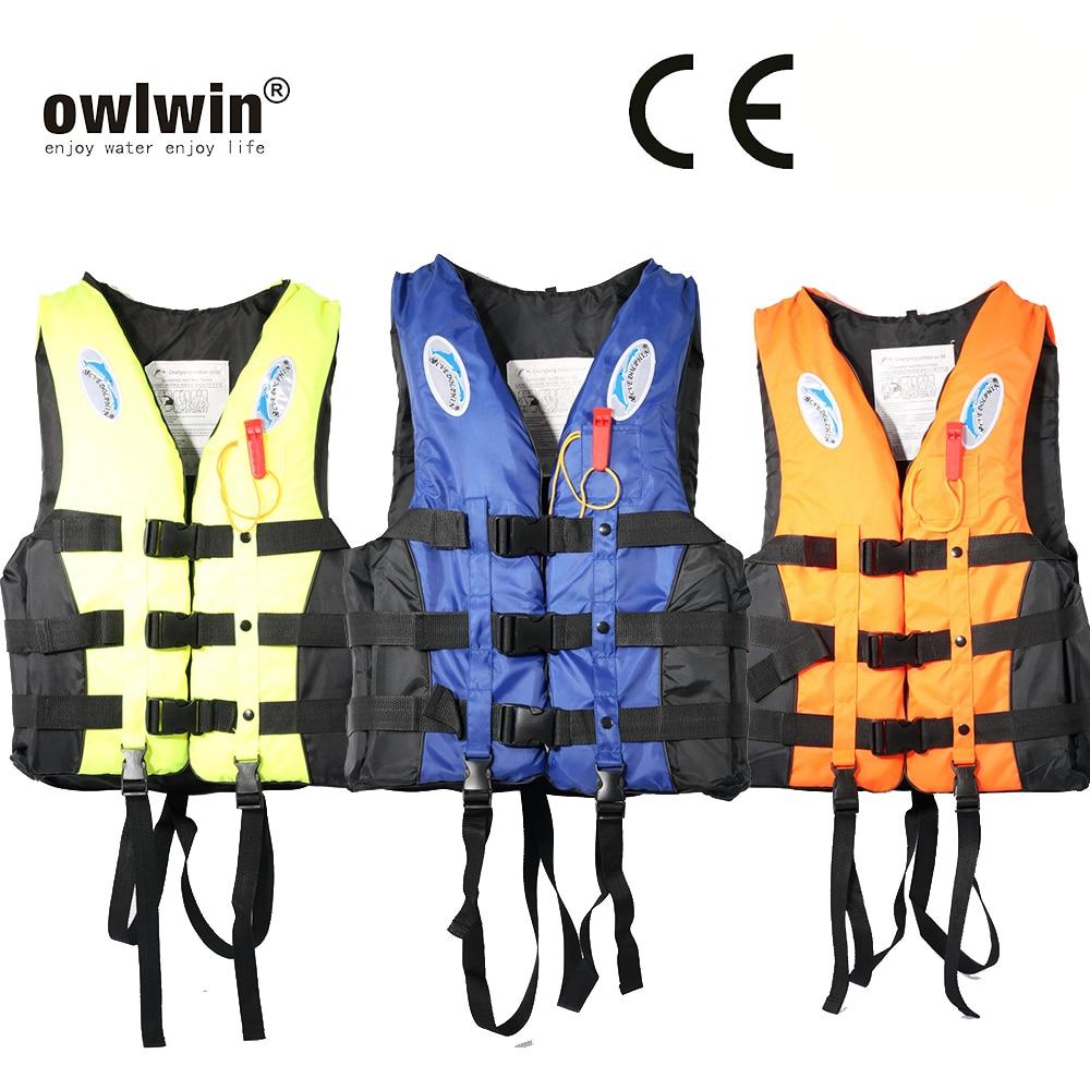 Children Adult Life Jacket Jackets Men Women Vest Kayka Life Vest Fishing Vest  S-XXXL Ski Drifting Vest With Whistle Prevention