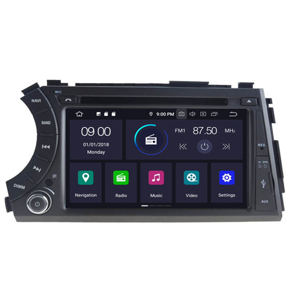 Android 10 2 din Car Radio GPS Multimedia Navi DVD Player for SsangYong Kyron Actyon Sports Tradie Korando 2005-2014 image