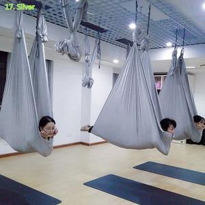 Prior Fitness Aerial Yoga Hammock 4Mx2.8M Premium Aerial Silk Fabric Yoga Swing for Antigravity Yoga Inversion indoor swing