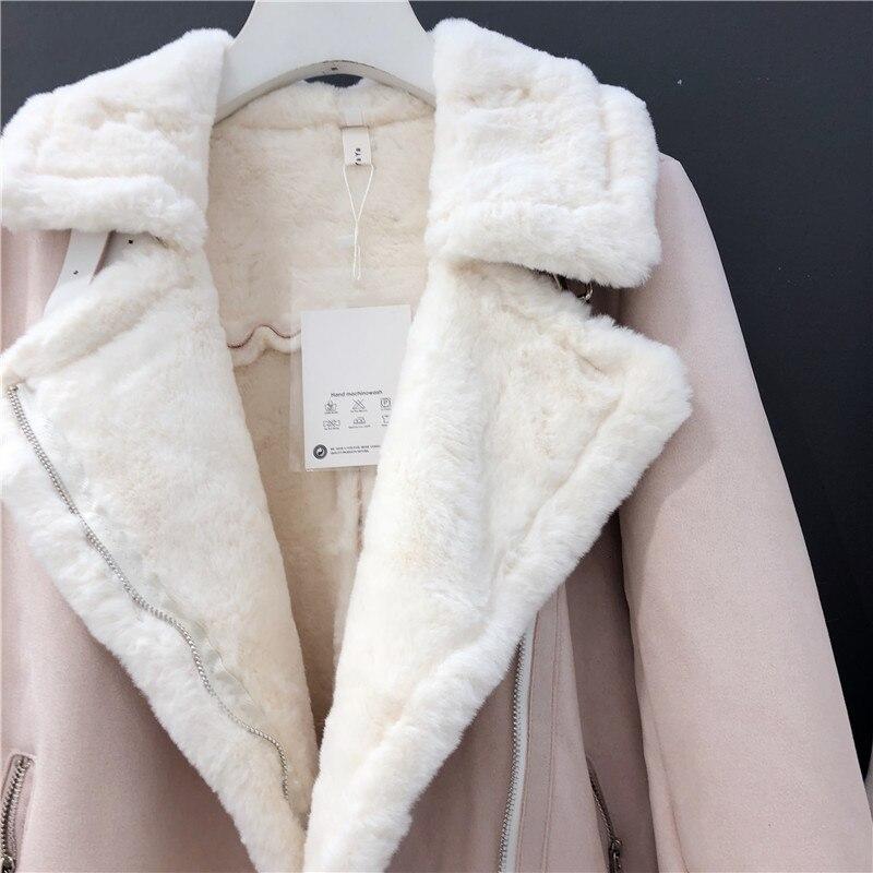 inverno fundo curto 2019 casaco um deerskin