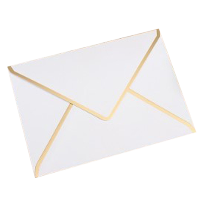 15/Piece, 190mmx140mm Hot Stamping Envelope 250G Pearl Paper Wedding Business Invitation Envelope