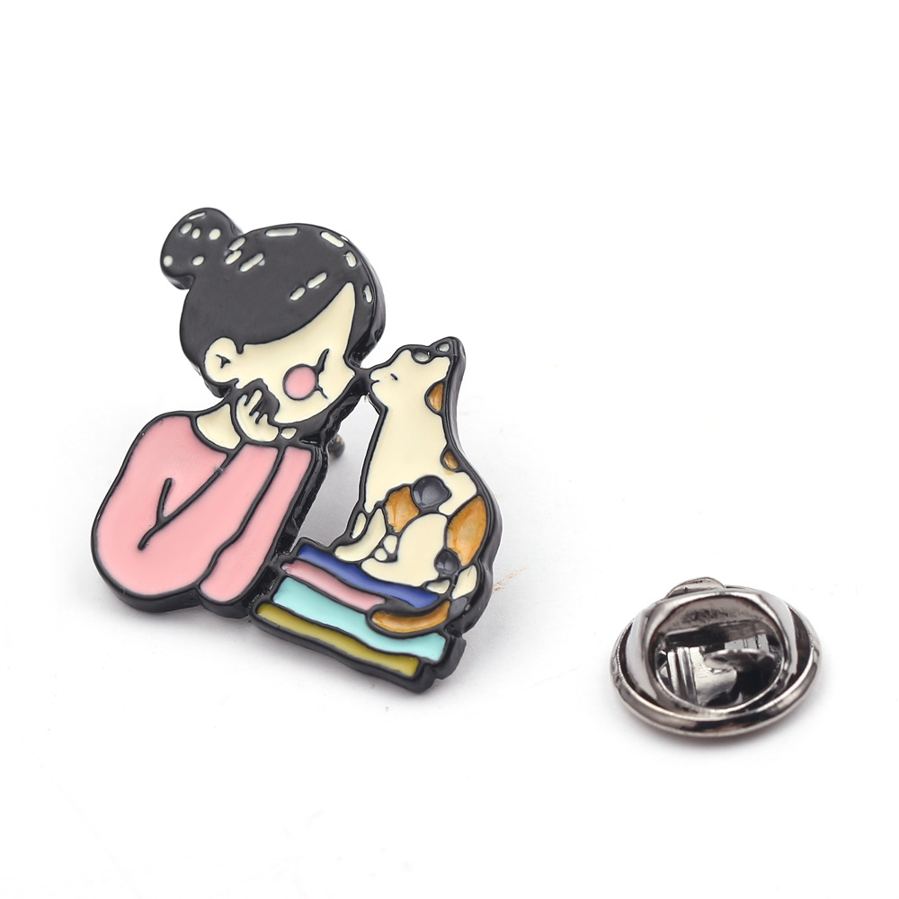 lovely fashion girls alloy drop brooch pins cat jewelry scarf buckle oil drop christmas gifts for women in Brooches from Jewelry Accessories