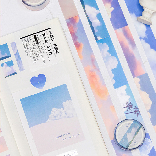 Could Scenery Pet Washi Tape Adhesive Tape Diy Scrapbooking Sticker Label Masking Tapes