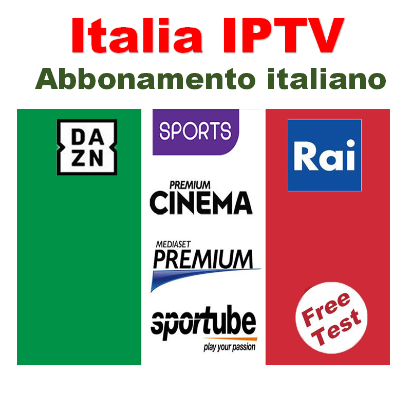 Italy IPTV Subscription 1 Year IPTV Italia Abbonamento M3U For Dazn Premium Mediaset 2000 Lives Andorid Enigma2 MAG Smart Tv PC