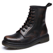 Shoes Winter Ankle-Boots Punk Equestr Casual Riding Genuine-Leather Spring