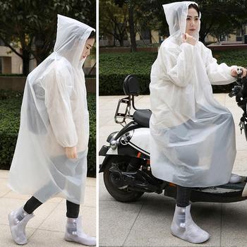 Przenośny Poncho płaszcz przeciwdeszczowy dla dorosłych wielokrotnego użytku jednorazowy płaszcz przeciwdeszczowy z kapturem Poncho na zewnątrz na ubrania przezroczyste pokrowce Lady Riding płaszcz przeciwdeszczowy tanie i dobre opinie CN (pochodzenie) RainWear Odzież przeciwdeszczowa na motocykl skuter Jednoosobowy odzież przeciwdeszczowa płaszcze przeciwdeszczowe