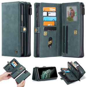 Image 5 - New PU Leather Flip Wallet Cover for iPhone 12 mini 11 Pro Max Xs Max XR X 8 7 Plus SE Multi functional Magnetic Phone Case