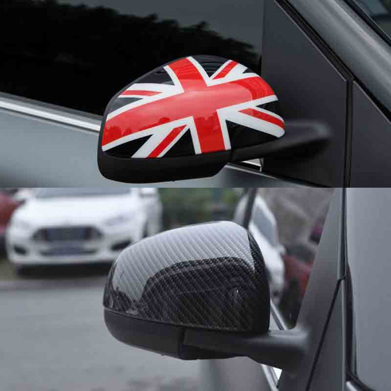 2pcs Door Rear View Mirror Covers Housing Stickers  Trim Frame Part  For Benz Smart 451 Fortwo 453 Forfour  2015 2016 2017 2018