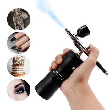 цена на 0.4mm Airbrush Makeup Cake for Compressor Kit Single Action Air-brush Spray Gun for Art Painting Manicure Craft Spray Model