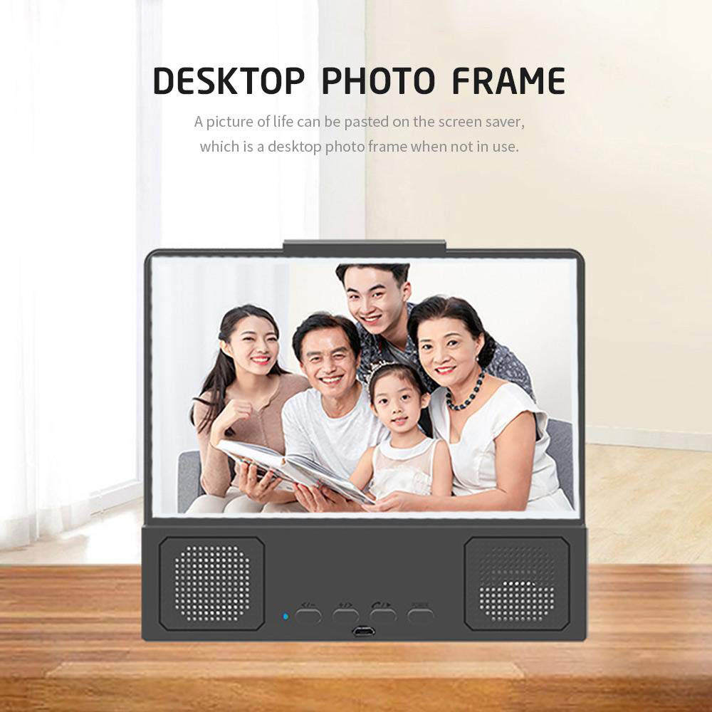 CASEIER 12 inch 3D Phone Screen Amplifier with Foldable Stands For ioS and Android Smartphone