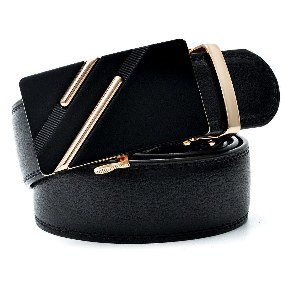 Belt Men's Automatic Buckle Male Designer Black for Business3.4cm-Width
