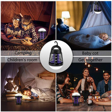 2 in 1 Electronic Mosquito Repellent Lamp LED Waterproof Repeller Killer Light Traps Camping Lantern J8