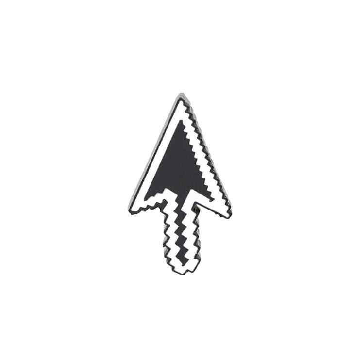 Lxjery computador dos desenhos animados mouse botão esmalte pino emblema na mochila bonito broche pinos para roupas broche para meninas presente