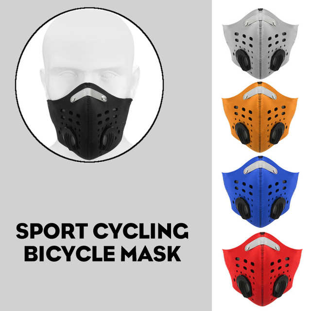 10Pcs Face Mask Half Air Pollution Filter Sport Cycling Bicycle Bike In Stock Fast shipping 2