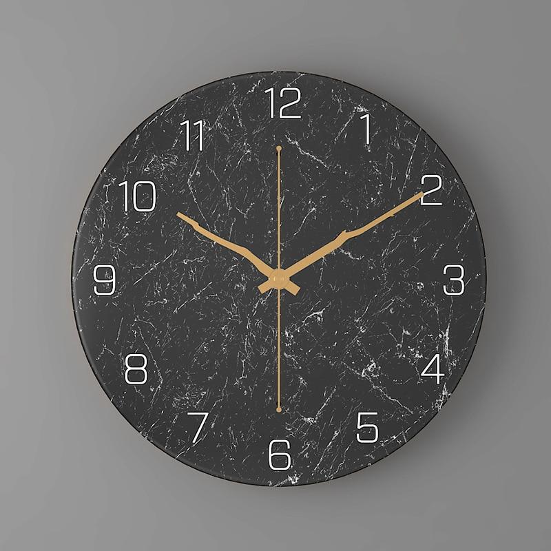 Luxury Nordic Wall Clock Brief Design Mute Minimalist Wall Clock Stylish Klokken Wandklokken Living Room Home Decoration SS60WC