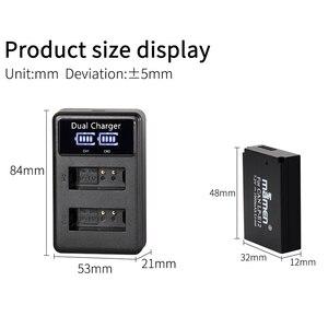 Image 2 - Mamen 1900MAh قابلة للشحن LP E12 LPE12 LP E12 كاميرا رقمية البطارية + LCD شاحن يو اس بي لكانون 100D قبلة X7 المتمردين SL1 M10 M50
