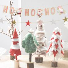 Ho Ho Ho Christmas Banner New Pink Color Holiday Garland Festive Bunting for Xmas Party Fireplace Mantel new nature color merry christmas banner with glitter stars trees holiday garland festive bunting for xmas party fireplace mantel