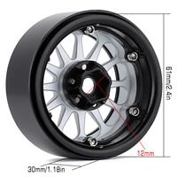 "INJORA 4PCS 2.2"" Metal Beadlock 12-Spokes Wheel Rim for RC Crawler Car Traxxas TRX4 TRX6 Axial SCX10 90046 RR10 Wraith 4"