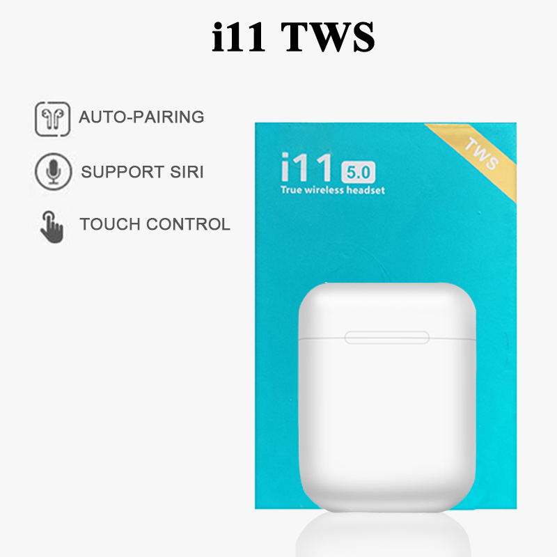 New Heaphones I11 TWS Bluetooth 5.0 Wireless Bluetooth Earphone Earpieces Mini Earbuds HS Ear For IPhone Samsung Xiaomi Huawei
