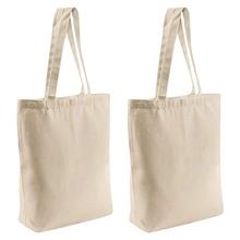 2 sztuk wielokrotnego użytku puste torby płócienne torby na zakupy torby na książki torby na zakupy Craft DIY rysunek torby na prezenty itp tanie tanio CN (pochodzenie) NYLON WOMEN Stałe zipper Moda