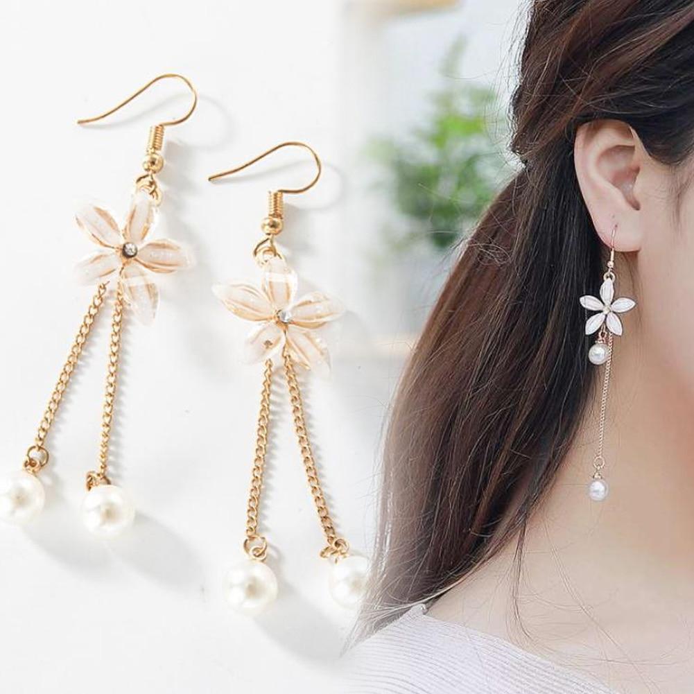 Trendy Female Jewelry Stud Earrings Creative 1-Shaped Elegant Shiny Ear Studs BY