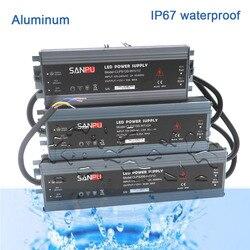 Светодиодный ультратонкий водонепроницаемый источник питания IP67 AC110V-220V к трансформатору DC12V/ DC24V 45 Вт/60 Вт/100 Вт/120 Вт/150 Вт/200 Вт/300 Вт светодио...
