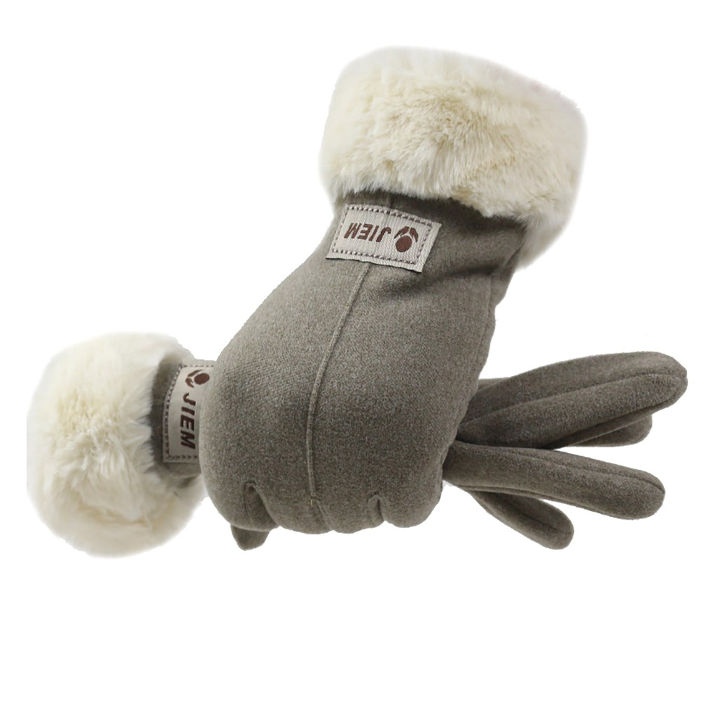 2019 Fashion Autumn Winter Gloves Wool Warm Soft Outdoor Elegant Ladies Gloves Mittens Accessories Luvas De Inverno