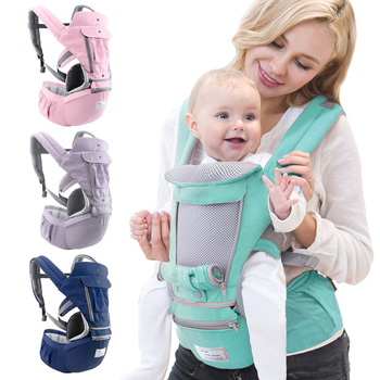 Newborn Ergonomic Baby Carrier Infant Kid Baby Hipseat Sling Front Facing Kangaroo Baby Wrap Carrier for Baby Travel 0-36 Months