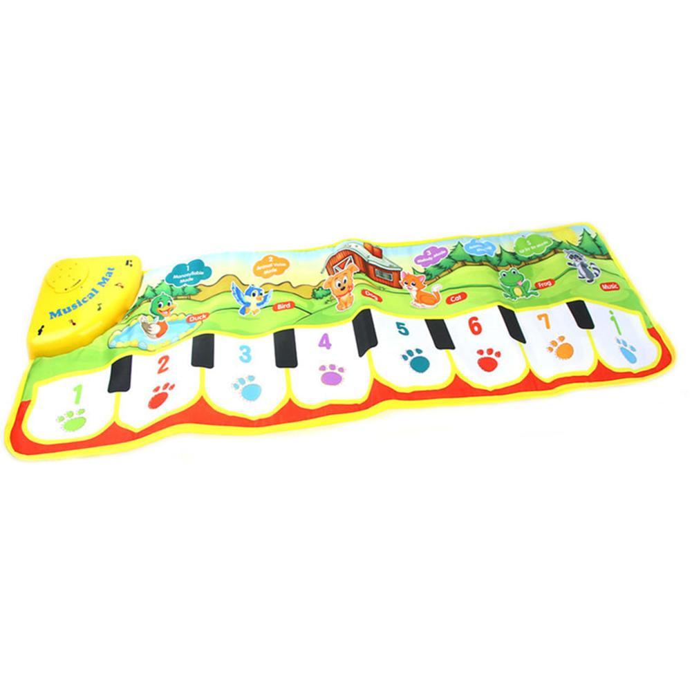 Soft Nonwoven Fabric Foldable Touch Play Piano Keyboard Musical Carpet Mad Pad Educational Kids Toy Inspire The Toddler Crawling
