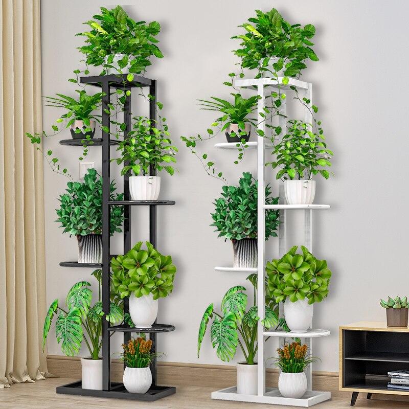 Flower Shelf Nordic Indoor Home Balcony Decoration Rack Wrought Iron Living Room Simple Flower Pot Multi-layer Rack