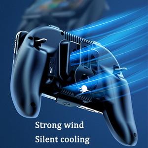 Image 5 - Freezing pubg controller gamepad cooler for mobile phone game shooter for iphone android L1R1 joystick pubg controller with fan