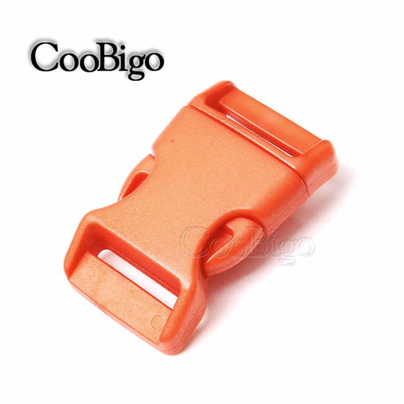 "1 ""Side Release Gesp Gebogen Prarchute 550 Cord Paracord Armband Outdoor Rugzak Band Halsband Webbing Bag Onderdelen Kleurrijke"
